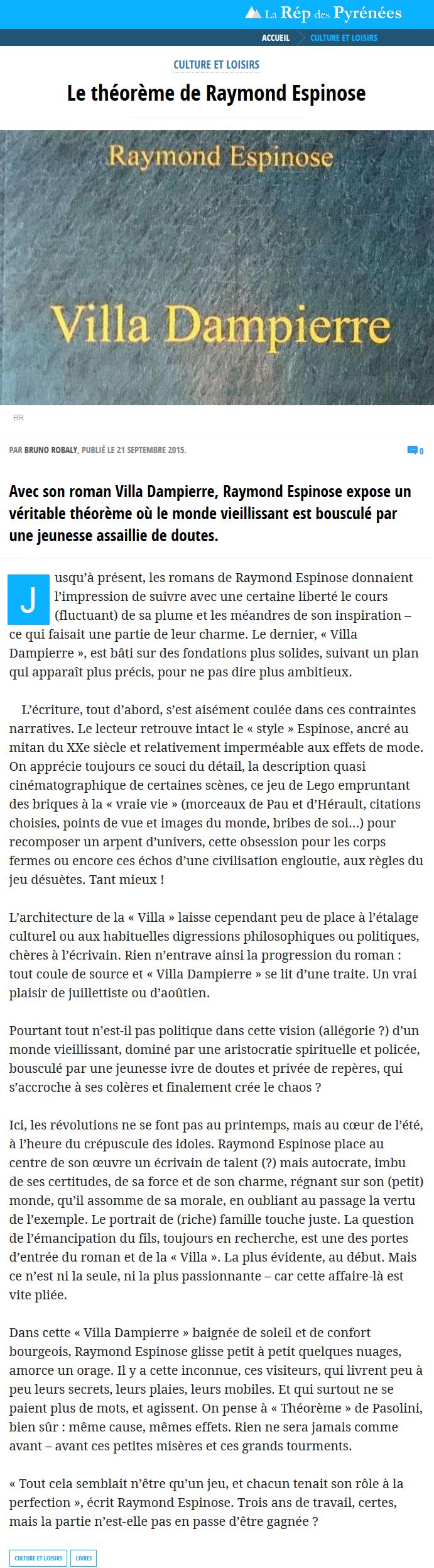 Espinose - La République des Pyrénées - 21092015